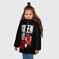 Куртка зимняя для девочки Green Day: American Idiot цвета 3D-черный — фото 2