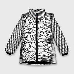 Детская зимняя куртка для девочки с принтом White Pleasures, цвет: 3D-черный, артикул: 10152526906065 — фото 1