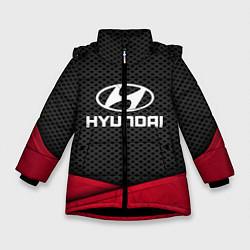 Куртка зимняя для девочки Hyundai: Grey Carbon цвета 3D-черный — фото 1