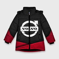 Куртка зимняя для девочки Volvo: Grey Carbon цвета 3D-черный — фото 1