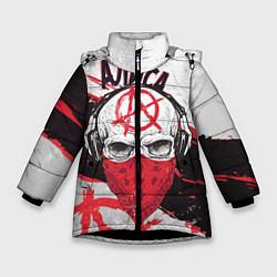 Куртка зимняя для девочки АлисА: Анархия цвета 3D-черный — фото 1