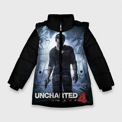 Куртка зимняя для девочки Uncharted 4: A Thief's End цвета 3D-черный — фото 1