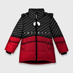 Куртка зимняя для девочки Infiniti: Red Carbon цвета 3D-черный — фото 1