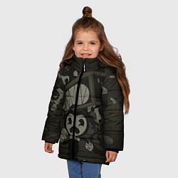Куртка зимняя для девочки Bendy Devil цвета 3D-черный — фото 2