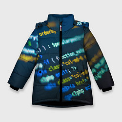 Куртка зимняя для девочки Programming Collection цвета 3D-черный — фото 1