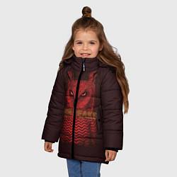 Куртка зимняя для девочки Twin Peaks: Red Owl цвета 3D-черный — фото 2