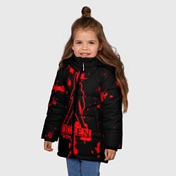 Куртка зимняя для девочки Queen: Blood Style цвета 3D-черный — фото 2