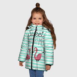 Куртка зимняя для девочки Sweet Summer Flamingo цвета 3D-черный — фото 2