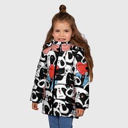 Куртка зимняя для девочки Милые панды цвета 3D-черный — фото 2