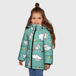 Куртка зимняя для девочки Love of Unicorns цвета 3D-черный — фото 2
