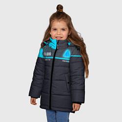 Куртка зимняя для девочки Detroit: RK800 цвета 3D-черный — фото 2
