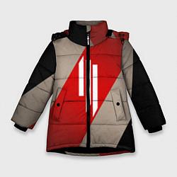 Куртка зимняя для девочки Skrillex Style цвета 3D-черный — фото 1