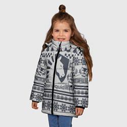 Детская зимняя куртка для девочки с принтом Team Liquid: Grey Winter, цвет: 3D-черный, артикул: 10156135106065 — фото 2