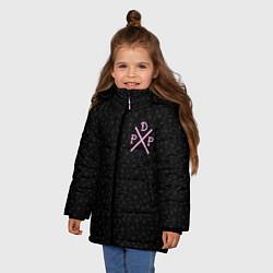 Куртка зимняя для девочки Pew Die Pie цвета 3D-черный — фото 2