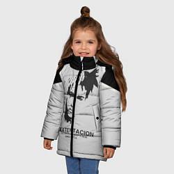 Куртка зимняя для девочки XXXTentacion RIP цвета 3D-черный — фото 2