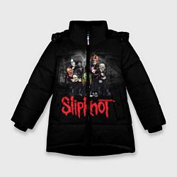Куртка зимняя для девочки Slipknot Band цвета 3D-черный — фото 1