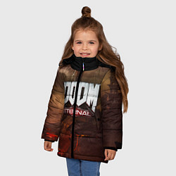 Куртка зимняя для девочки DOOM: Eternal цвета 3D-черный — фото 2