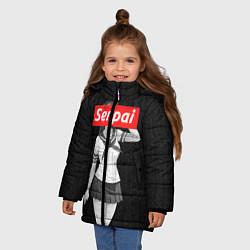 Куртка зимняя для девочки Senpai: School Girl цвета 3D-черный — фото 2