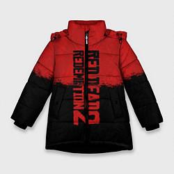 Куртка зимняя для девочки RDD 2: Red & Black цвета 3D-черный — фото 1