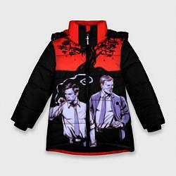 Куртка зимняя для девочки True Detective: Double Agents цвета 3D-черный — фото 1