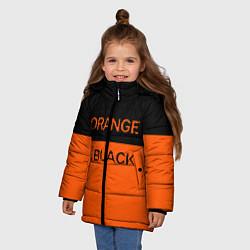Куртка зимняя для девочки Orange Is the New Black цвета 3D-черный — фото 2