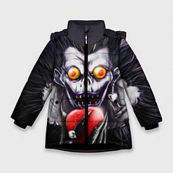 Куртка зимняя для девочки Рюк с сердцем цвета 3D-черный — фото 1