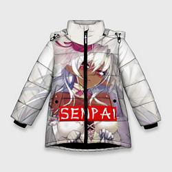 Куртка зимняя для девочки Senpai: White Girl цвета 3D-черный — фото 1