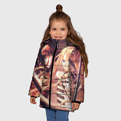 Куртка зимняя для девочки Satsuriku no Tenshi цвета 3D-черный — фото 2