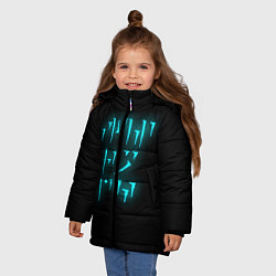 Куртка зимняя для девочки TES: FUS RO DAH цвета 3D-черный — фото 2