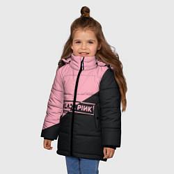 Куртка зимняя для девочки Black Pink цвета 3D-черный — фото 2
