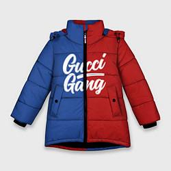 Куртка зимняя для девочки Gucci Gang: Blue & Red цвета 3D-черный — фото 1