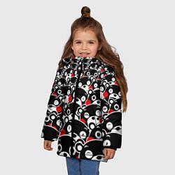 Куртка зимняя для девочки Kumamons цвета 3D-черный — фото 2