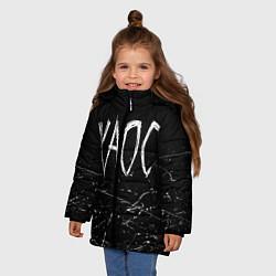 Куртка зимняя для девочки GONE Fludd ХАОС Черный цвета 3D-черный — фото 2