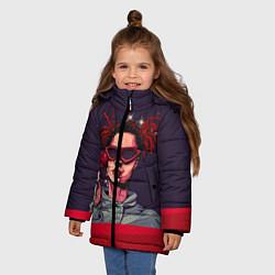 Куртка зимняя для девочки GONE Fludd цвета 3D-черный — фото 2