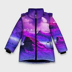 Куртка зимняя для девочки No Man's Sky: Neon Mountains цвета 3D-черный — фото 1