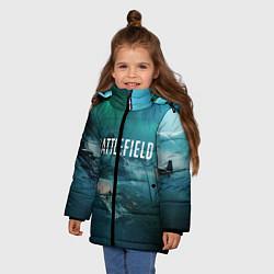 Куртка зимняя для девочки Battlefield: Sea Force цвета 3D-черный — фото 2