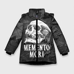 Куртка зимняя для девочки Memento Mori цвета 3D-черный — фото 1