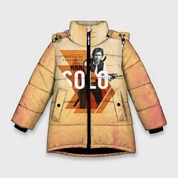 Куртка зимняя для девочки Star Wars: Han Solo цвета 3D-черный — фото 1
