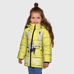 Куртка зимняя для девочки Ghostemane Mercury цвета 3D-черный — фото 2