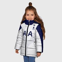 Куртка зимняя для девочки ФК Тоттенхэм цвета 3D-черный — фото 2