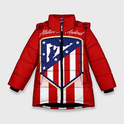 Куртка зимняя для девочки ФК Атлетико Мадрид цвета 3D-черный — фото 1