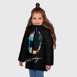 Детская зимняя куртка для девочки с принтом Daft Punk: Get Lucky, цвет: 3D-черный, артикул: 10171255506065 — фото 2