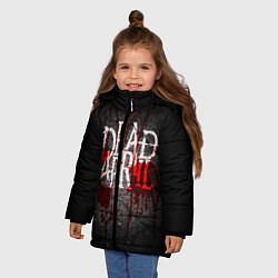 Куртка зимняя для девочки Dead by April цвета 3D-черный — фото 2