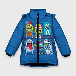 Куртка зимняя для девочки Cool Dudes цвета 3D-черный — фото 1