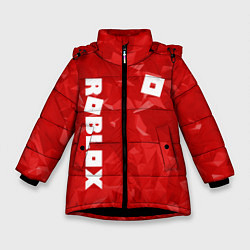 Куртка зимняя для девочки ROBLOX: Red Style цвета 3D-черный — фото 1