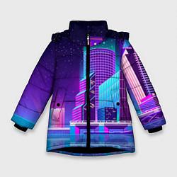 Куртка зимняя для девочки Neon Nights цвета 3D-черный — фото 1