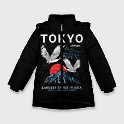 Детская зимняя куртка для девочки с принтом Tokyo, цвет: 3D-черный, артикул: 10172524706065 — фото 1