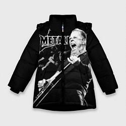 Куртка зимняя для девочки Metallica цвета 3D-черный — фото 1