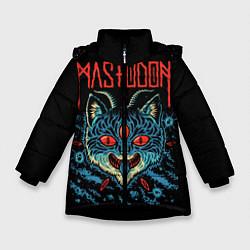 Детская зимняя куртка для девочки с принтом Mastodon: Demonic Cat, цвет: 3D-черный, артикул: 10172767106065 — фото 1