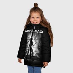 Куртка зимняя для девочки Nickelback Rock цвета 3D-черный — фото 2